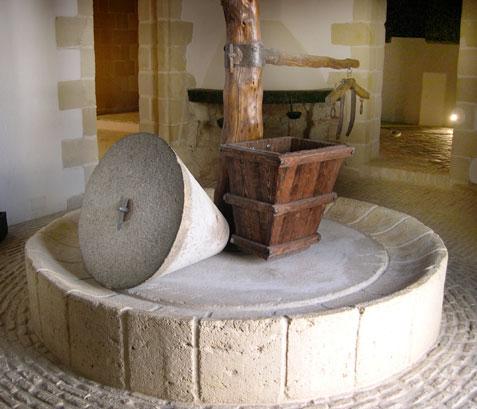 Molino de piedra para maiz
