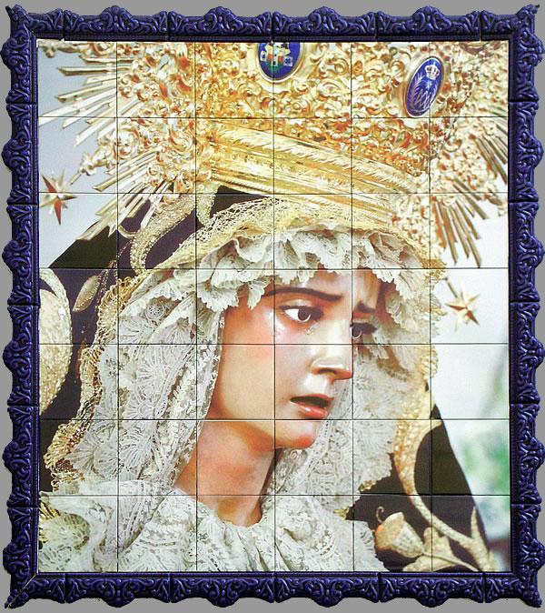 Azulejo virgen de la estrella calle cruces jerezsiempre for Azulejos jerez de la frontera