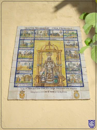 Azulejo virgen de la merced jerezsiempre monumentos for Azulejos jerez de la frontera