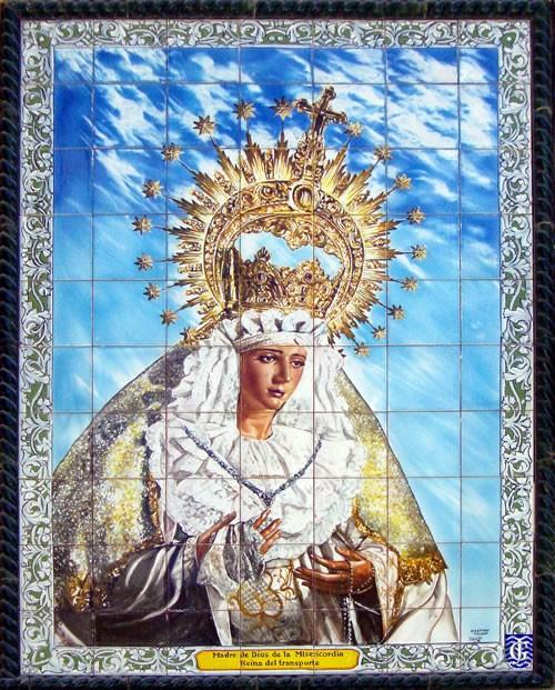 Azulejo madre de dios de la misericordia jerezsiempre for Azulejos jerez de la frontera