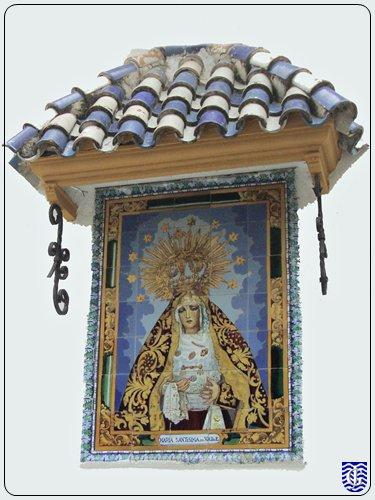 Virgen del valle en plaza espa a jerezsiempre - Azulejos del valle ...