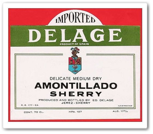 Amontillado Sherry Delage