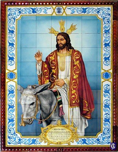 Cristo rey en su entrada en jerusal n jerezsiempre for El rey de los azulejos