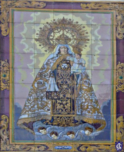 Azulejo virgen del carmen calle corredera jerezsiempre for Azulejos jerez de la frontera