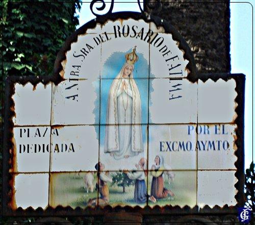 Azulejo virgen del rosario de f tima jerezsiempre for Azulejos jerez de la frontera