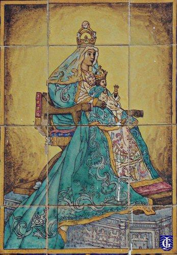 Virgen de los reyes en calle zaragoza jerezsiempre for Azulejos en zaragoza