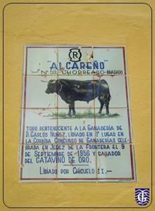 Azulejo toros indultados plaza toros de jerez for Azulejos jerez de la frontera