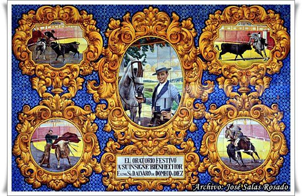 Azulejo oratorio festivo alvaro domecq jerezsiempre for Azulejos jerez de la frontera